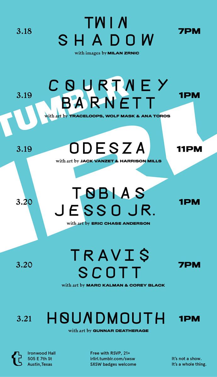 Tumblr IRL SXSW Parties