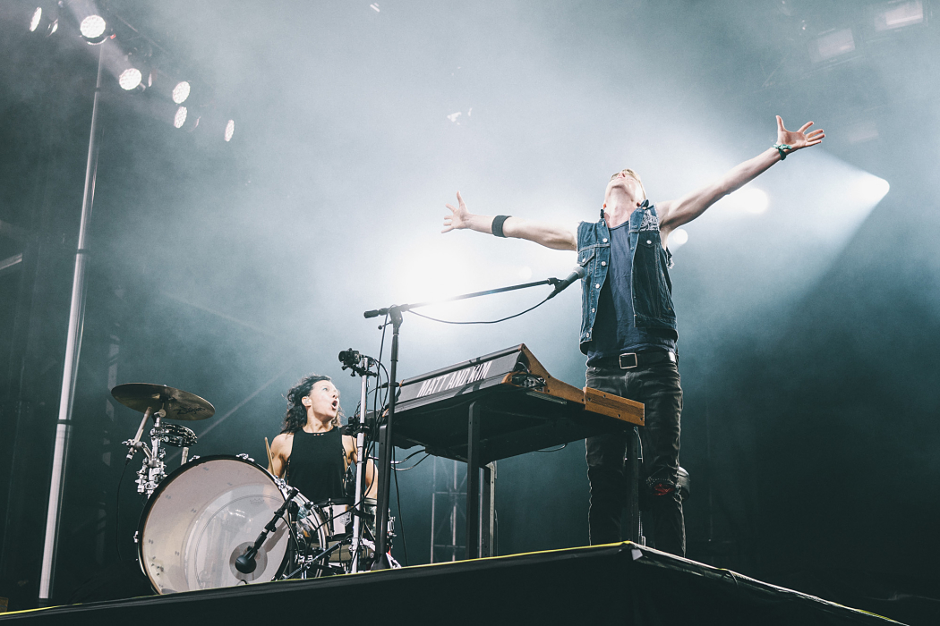 Matt And Kim at Governors Ball-6