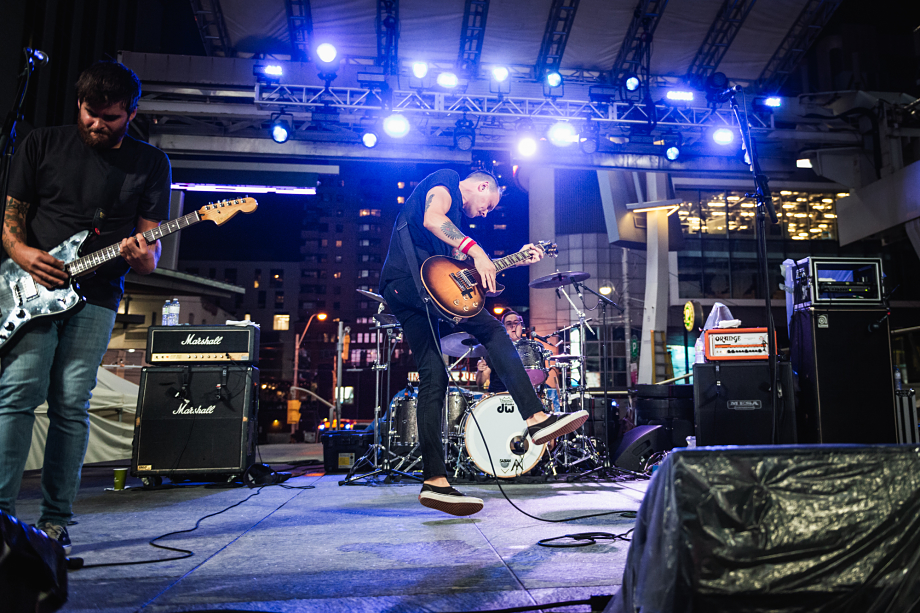 The Flatliners at Yonge-Dundas Square Toronto